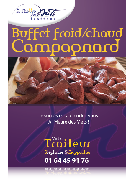 buffet froid chaud campagnard