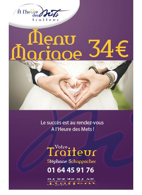 menu mariage 34 euro