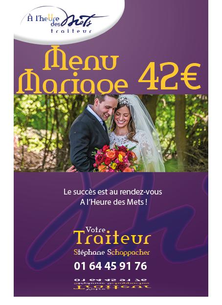 menu mariage 42 e